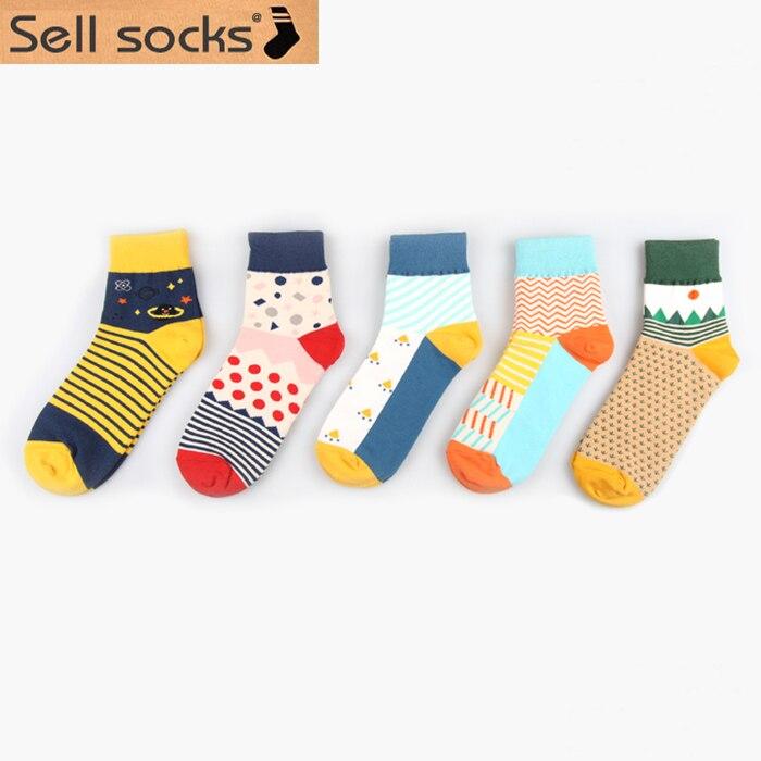 Women Socks Spring Men Socks Lovely Japan Cotton Colorful Middle Tube Sock High Quality 36-43