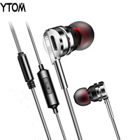 5USD Best Sound Metal Earphone Earbuds Stereo Sound Music MP3 Earphone With Microphone For Apple Xiaomi