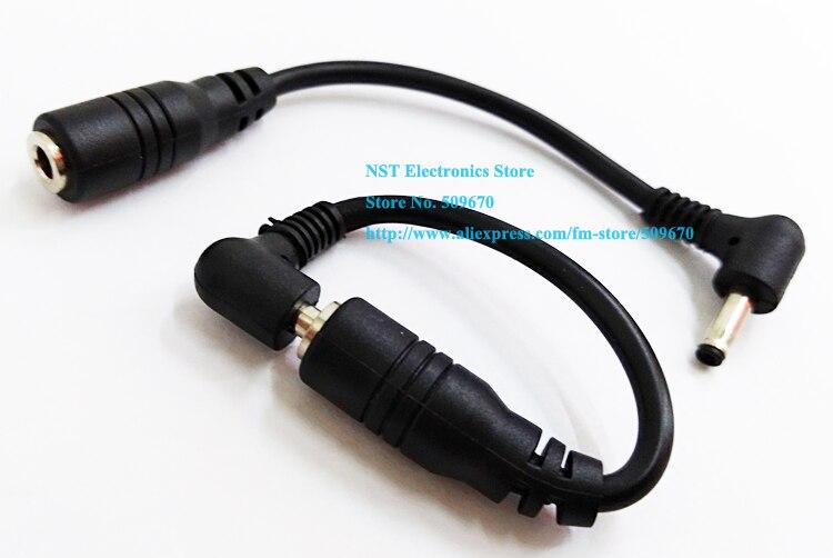 NCHTEK 90 градусов прямоугольный штекер постоянного тока 3,5x1,35 мм мужской и женский короткий удлинитель/кабель/ /25 шт