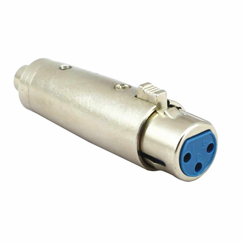 Ze stopu cynku Cannon 3Pin XLR żeńskie do RCA żeńskie Jack Audio Adapter mikrofonu