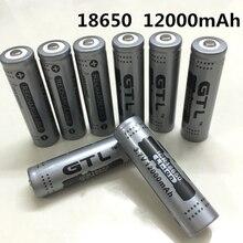 100% New Original NCR18650B 3.7 V12000 mah 18650 Lithium Rechargeable Battery Large Capacity GTL EvreFire