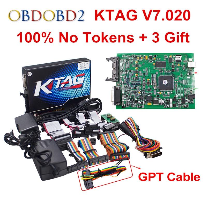 Nouveau Paru Non Jetons Limite KTAG V2.23 V7.020 Maître Version K TAG 7.020 ECU Chip Tuning Pour Camion/Heavy Duty K-TAG V7.020