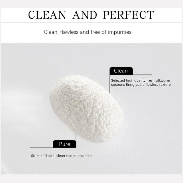 100Pcs Organic Natural Silk Cocoons Silkworm Balls Facial Skin Care Scrub Purifying Acne Anti Aging Whitening Beauty Tools