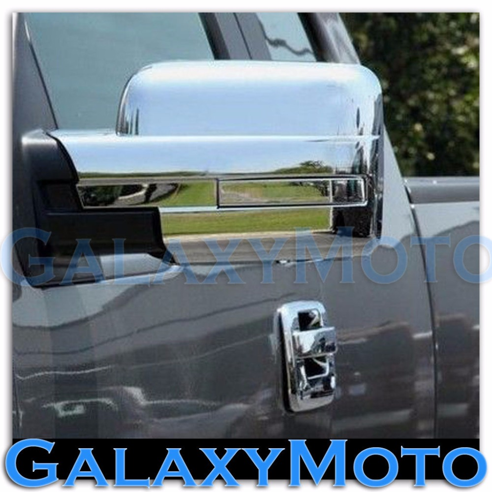 XYIVYG 09 14 for Ford F150 Truck Chrome Mirror without Turn Light Signal Full Cover a