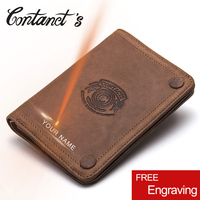 New Casual 100 Genuine Leather Men Wallet Famous Brand Organizer Wallets Short Coin Purse With Photo