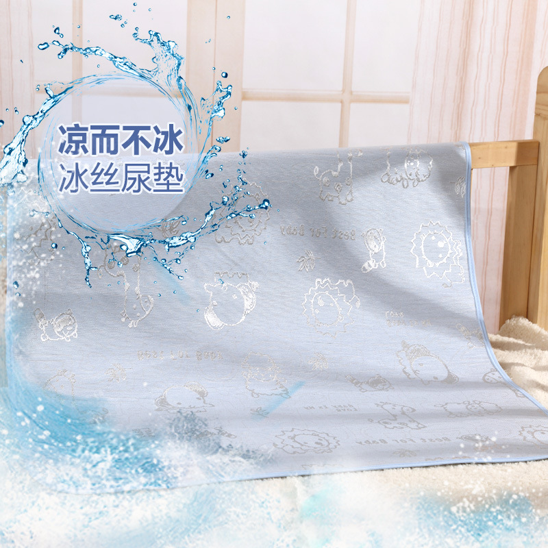 Summer cotton infant waterproof bed sheets changing mat Babys