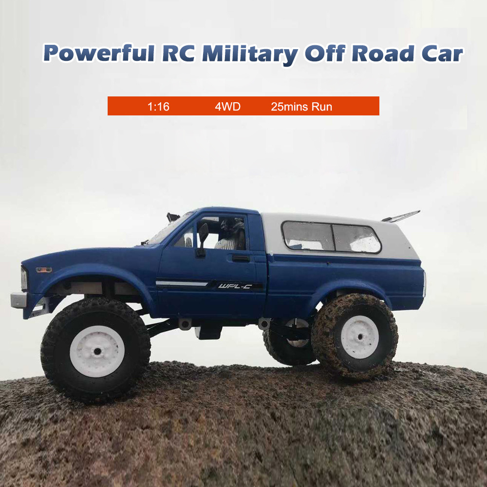 2018 nuevo WPL C24 RC Car 1:16 4WD Radio Control Off-Road Mini coche RTR Rock Crawler eléctrico Buggy Moving Machine RC coche niños Coche