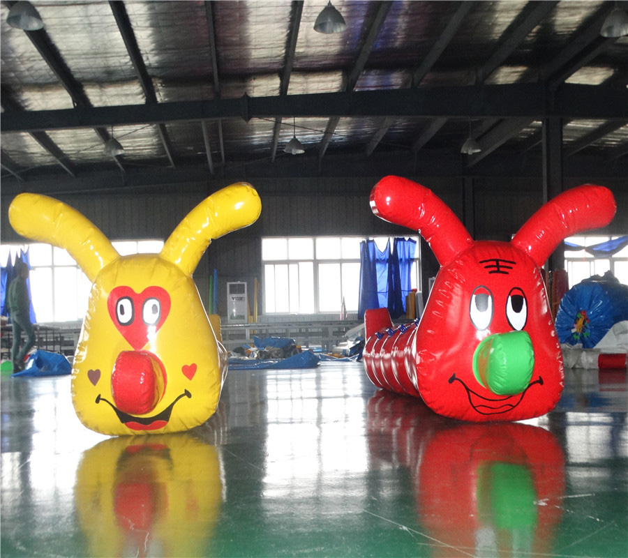 Adult Dryland Games Inflatable Caterpillar Sports Games Fun Games Props