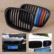 M Color Frontal al Riñón Grille Grill para BMW Serie 5 E39 525/528/530/535/540/M5 1995 1996 1997 1998 1999 2000 2001 2002 2003 2004
