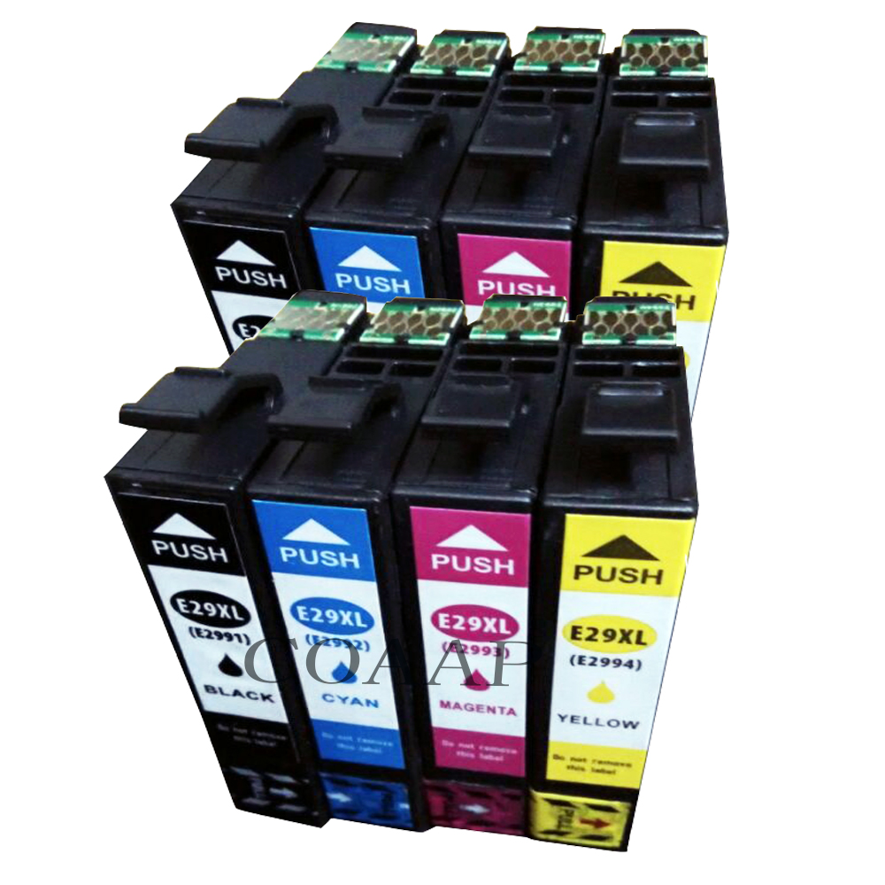 8 Non OEM Compatible 29XL Cartridges T2991 T2992 T2993 T2994 (29xl) XP-235, XP-332, XP-335, XP-432, XP-435