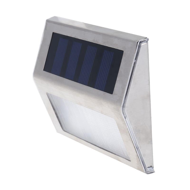 Mini 2 LED Solar Wall Light Stainless Steel Case Solar Power Balcony Corridor LED Solar Power Street Light