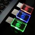 Cristal 4 GB 8 GB 16 GB 32 GB 64 GB USB 2.0 Memória flash drive Do Carro USB para Skoda unidade Vara Pen/Polegar/Car, vermelho/Azul/Verde LED Light