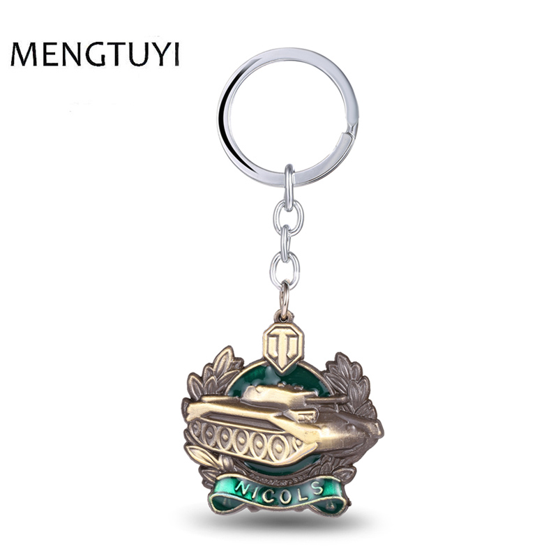 J Store Game Keychain Zinc Alloy Cool tanks model Key Chain Key Ring For Men Jewelry car for key holder