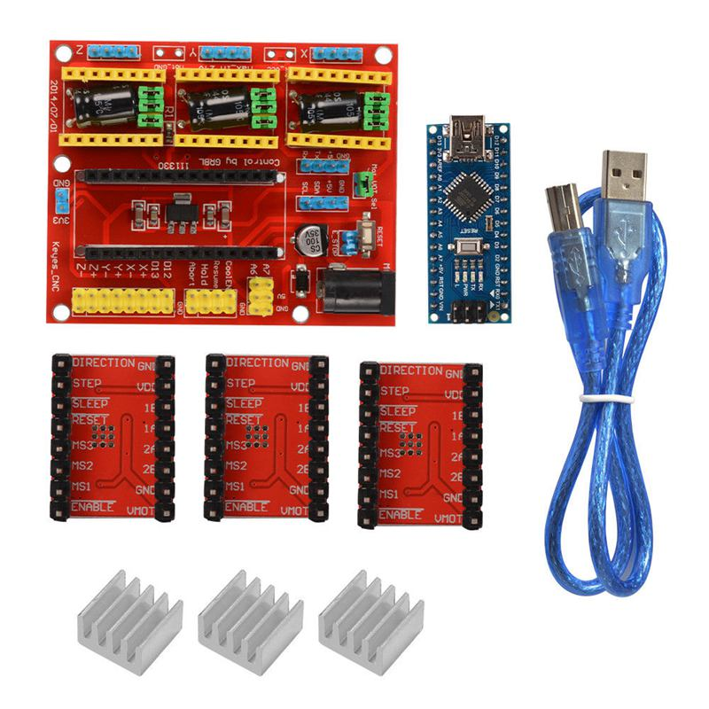 Image 2 - CNC Shield V4 Expansion Board Nano 3.0 Stepper A4988 Driver for Arduino 3D Printer TE732-in 3D Printer Parts & Accessories from Computer & Office