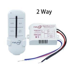 Image 3 - Interruttore telecomando Wireless ON/OFF 220V lampada lampada trasmettitore ricevitore interruttore remoto a parete Wireless digitale per lampada a LED