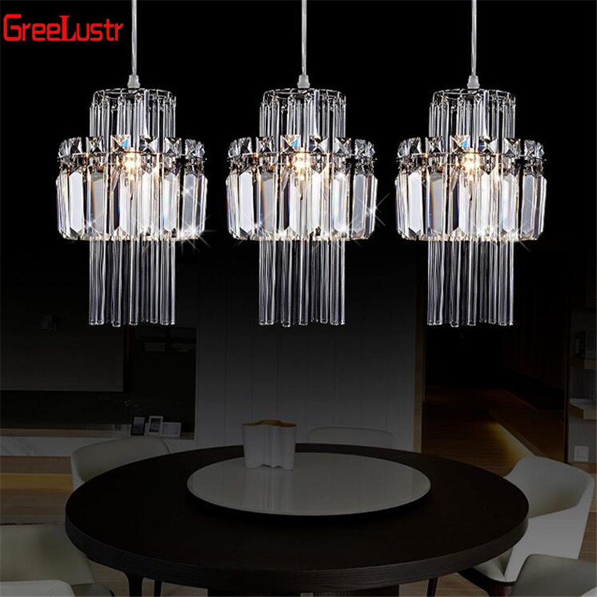 Creative Crystal Led Chandelier Pendant Lamp E14 Industrial Lustre Pendant lamps for Kitchen Decorative Hanging Lamp