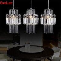 Creative Crystal Led Chandelier Pendant Lamp E14 Industrial Lustre Pendant lamps for Kitchen Decorative Hanging Lamp Luminaire