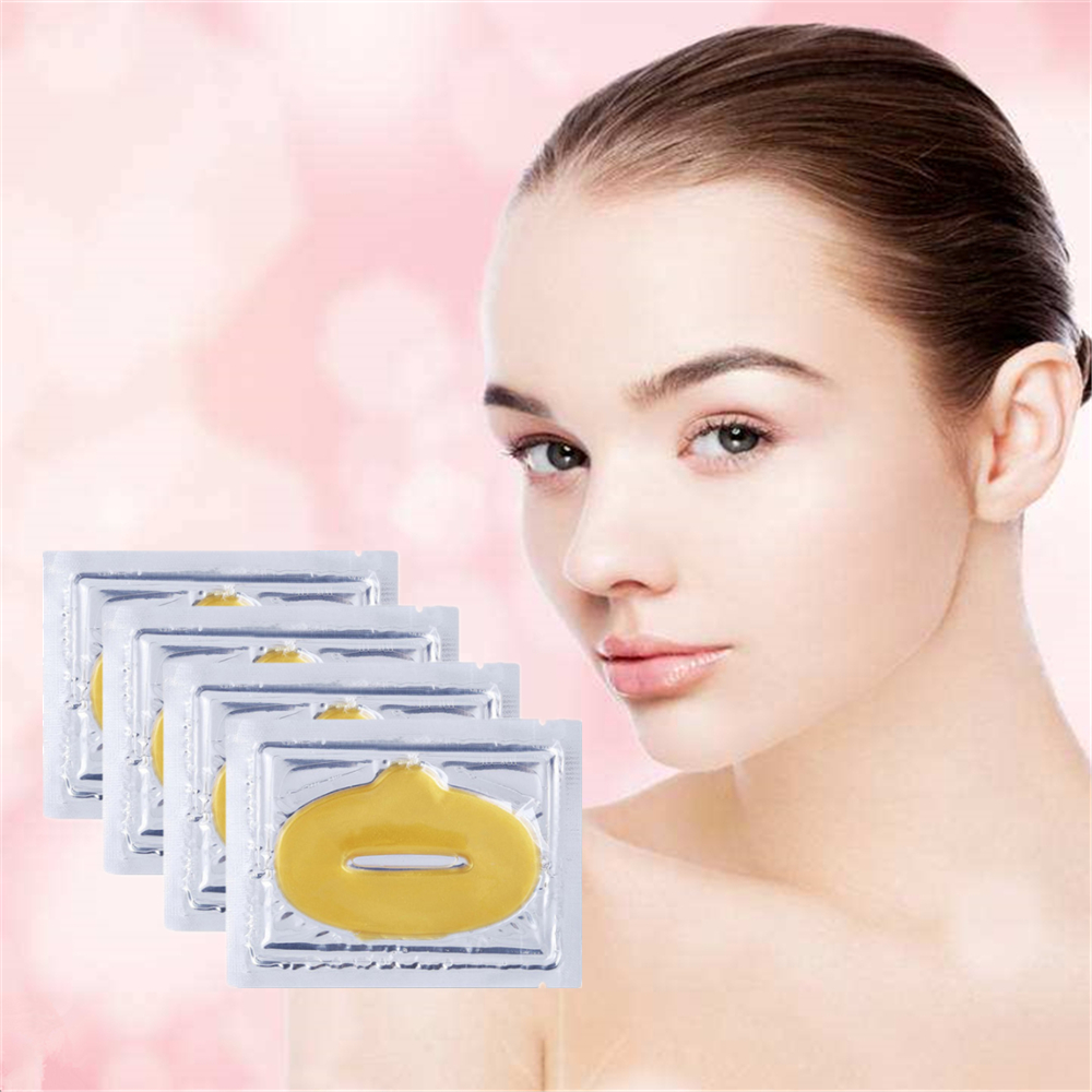 Love Thanks 1 Bag 24K Gold Collagen Lip Mask Moisturizing Essence Patches for lips Care Anti Ageing