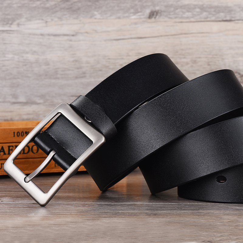 Image 3 - NO.ONEPAUL Men belt High Quality cow genuine leather luxury strap male belts for men new fashion classice vintage pin buckle-in Men's Belts from Apparel Accessories