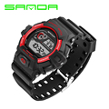 Sanda Men Digital LED Sports Watches Fashion Casual Military Wristwatches Rubber Strap relogio masculino Luxury Brand 2016