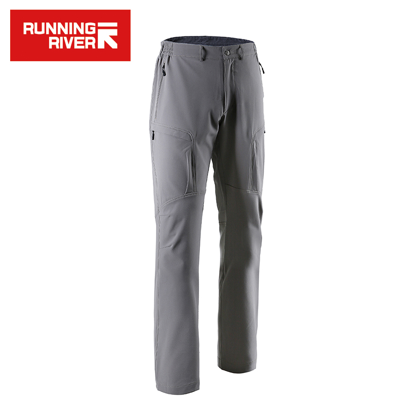 RUNNING RIVER Brand Men Hiking & Camping Pants 3 Colors Size 46 - 52 High Quality Outdoor Softshell Pants Man #T4586N airgracias elasticity jeans men high quality brand denim cotton biker jean regular fit pants trousers size 28 42 black blue