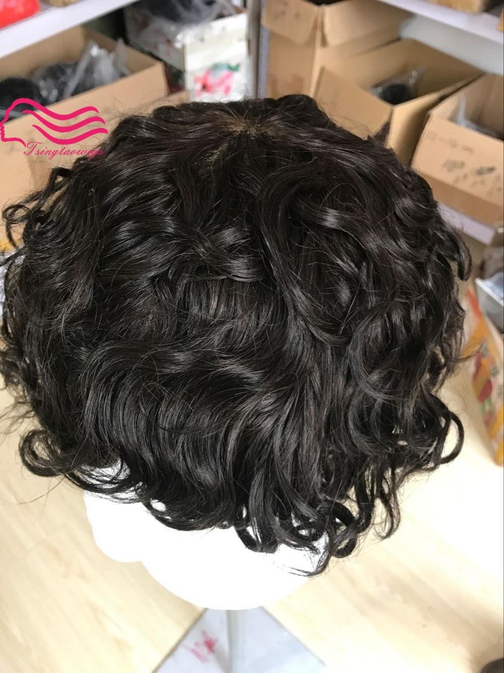 100% français dentelle hommes de cheveux humains perruque 2.5 cm vague, systèmes de remplacement de cheveux, toupet mâle, morceau de cheveux livraison gratuite