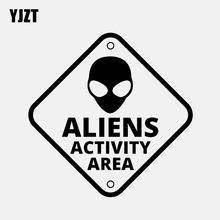 Yjzt 14.5cm * 14.5cm estrangeiro área de atividade ufo engraçado adesivo de carro vinil decalque preto/prata C3-0508