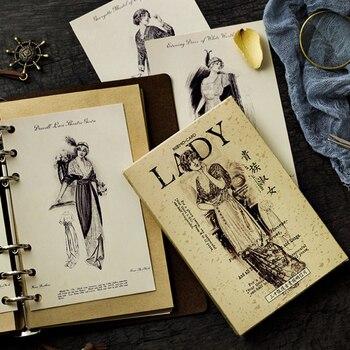 цена 30 Pcs/lot Elegant Aristocratic lady Postcard Greeting Card creative  Birthday Christmas and New Year DIY gifts Card онлайн в 2017 году