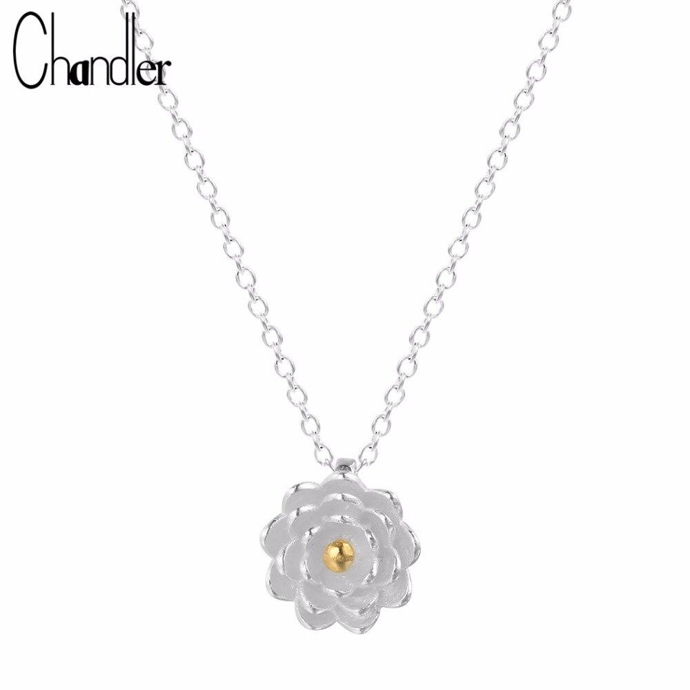 Blooming lotus designs women s - Chandler 925 Sterling Silver Jewelry Blooming Lotus Flower Necklaces For Women Yago Tiffan Bff