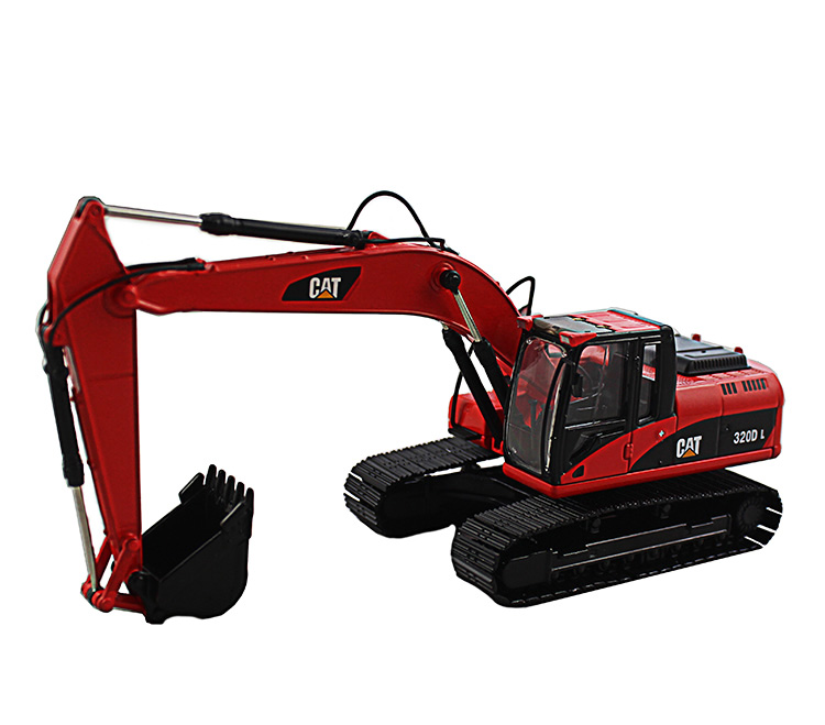 1 50 CAT320D Hydraulic Excavator with Red toys