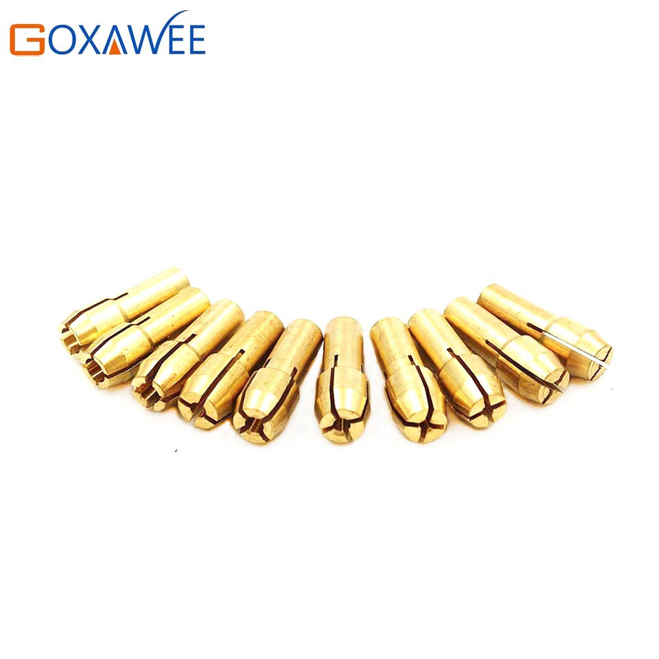 20pcs 0.5-3.2mm Brass Drill Chuck Collet Hex Shank Mini Drill Collet Chuck For Dremel Rotary Tools Accessories Collet Chuck 2 3mm mini drill chuck collet clamp adapter bit socket set micro brass drilling cartridge power tools for woodworking
