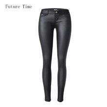 2017 модные женские джинсы,с высокой талией,слимы,скинни,джинсы из кожезаменителя,женские джинсы со стретчем, узкие брюки C1074