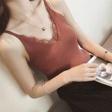 قميص قصير مثير للنساء بفتحة رقبة على شكل v صدرية صدرية رفيعة صدرية