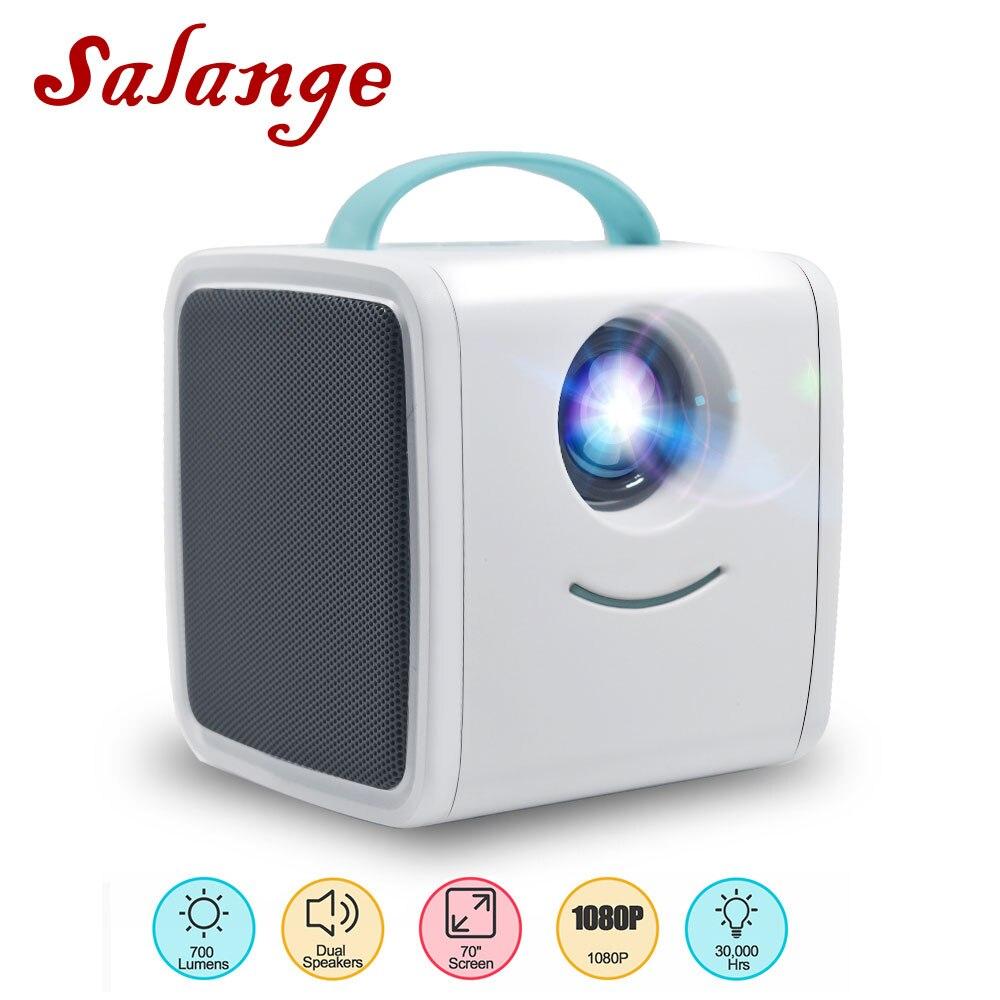 Salange Q2 Mini proyector 700 lúmenes juguete portátil niños educación Mini LED hogar Beamer soporte 1080P