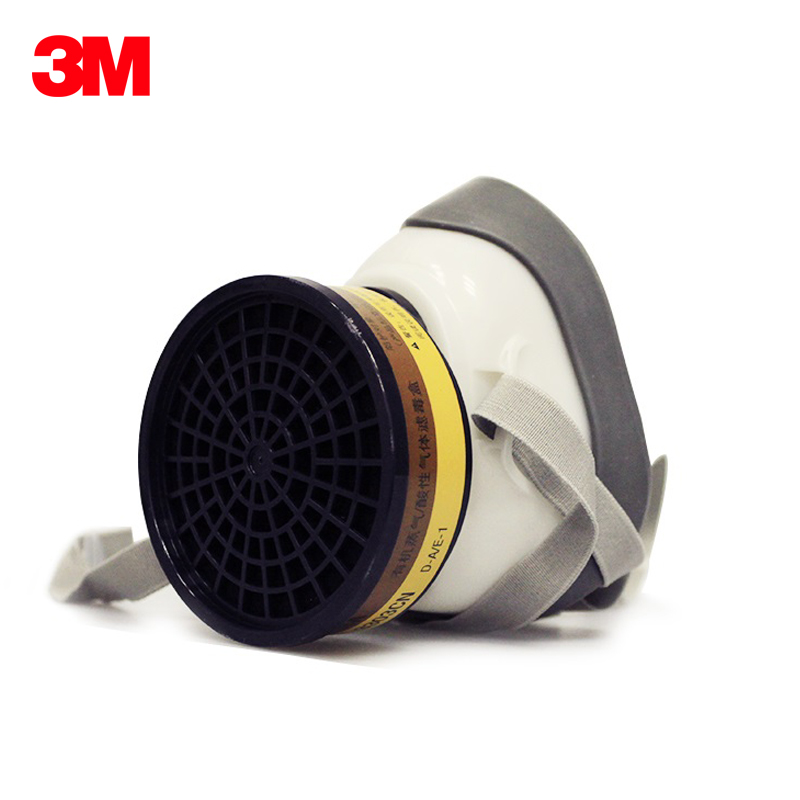 3M 1203 Reusable Half Face Mask Anaerobic Respirator Against Acid Gas/Chlorine Mask Painting Respirator KM002