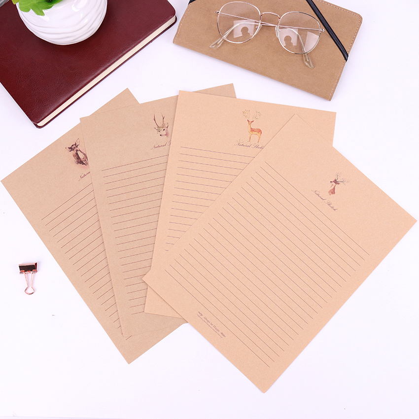 10 Sheets Set New Letter Pad European Vintage Style Writing Paper Letter Good Quality Culture Office Stationery in Letter Pad Paper from Office School Supplies