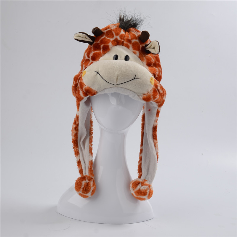 Regalo Unisex jirafa felpa sombrero Animal sombreros de invierno ...
