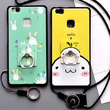 For coque Huawei P9 lite case Luxury 3D Relief cute cartoon Ultra thin soft silicon TPU back cover case for Huawei P9 lite case