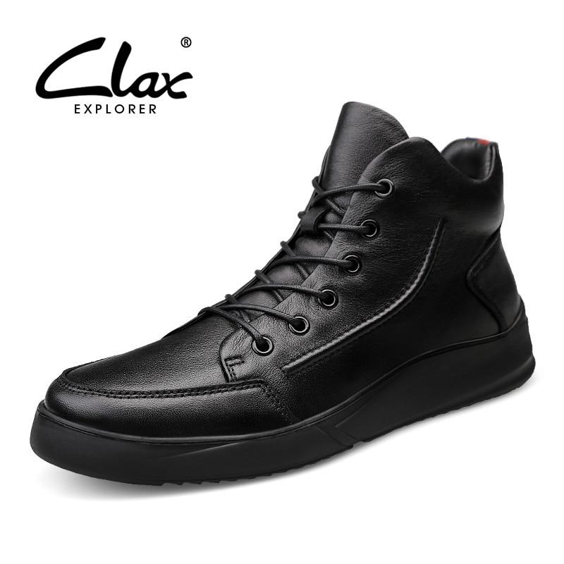 151325cb04553a D'hiver 2019 No Clax Bottes Cuir Bottines Chaussures Printemps Automne  Hommes Neige Décontractée Véritable Fur ...