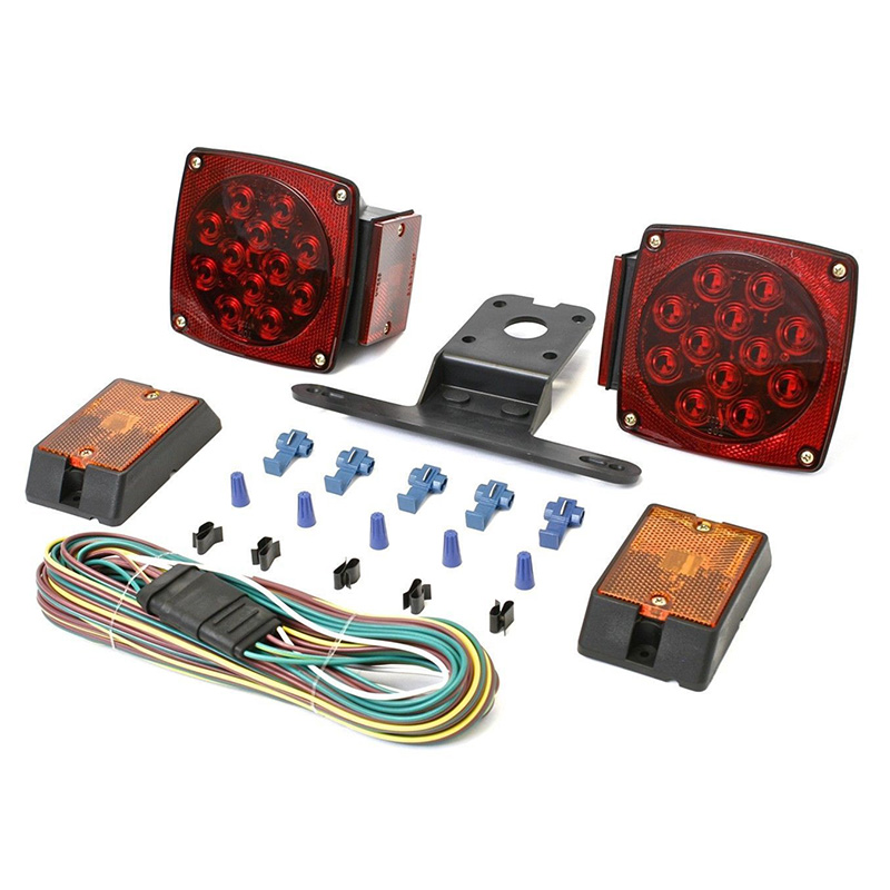 Rear Led Submersible Trailer Tail Lights Kit Boat Marker Truck Round Waterproof for trailers under 80 inches in width (11)