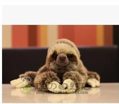 Free shipping plush toys Three-toed sloth Doll Sloth Plush Toys Simulation animal plush toys.good gift for chirsmas цена