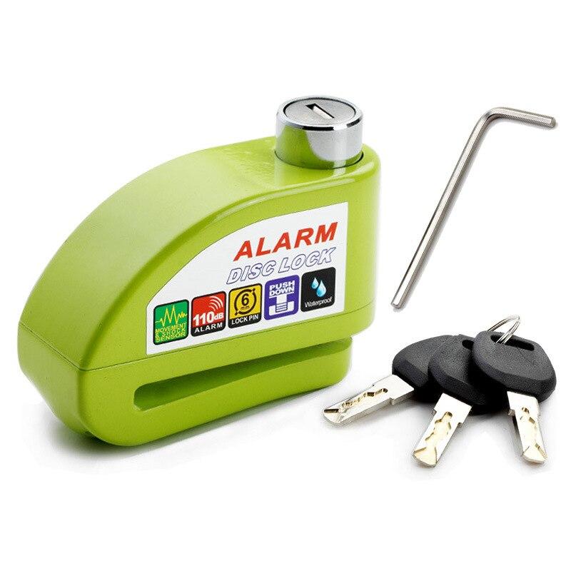 NEW Free Shipping Bike Alarm Lock Safety Waterproof Motorcycle Brake Disc Alarm Lock Bike Lock