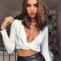 Heyoungirl 2017 new fashion sexy tops women short sex tank tops casual deep v-neck cotton tops feme