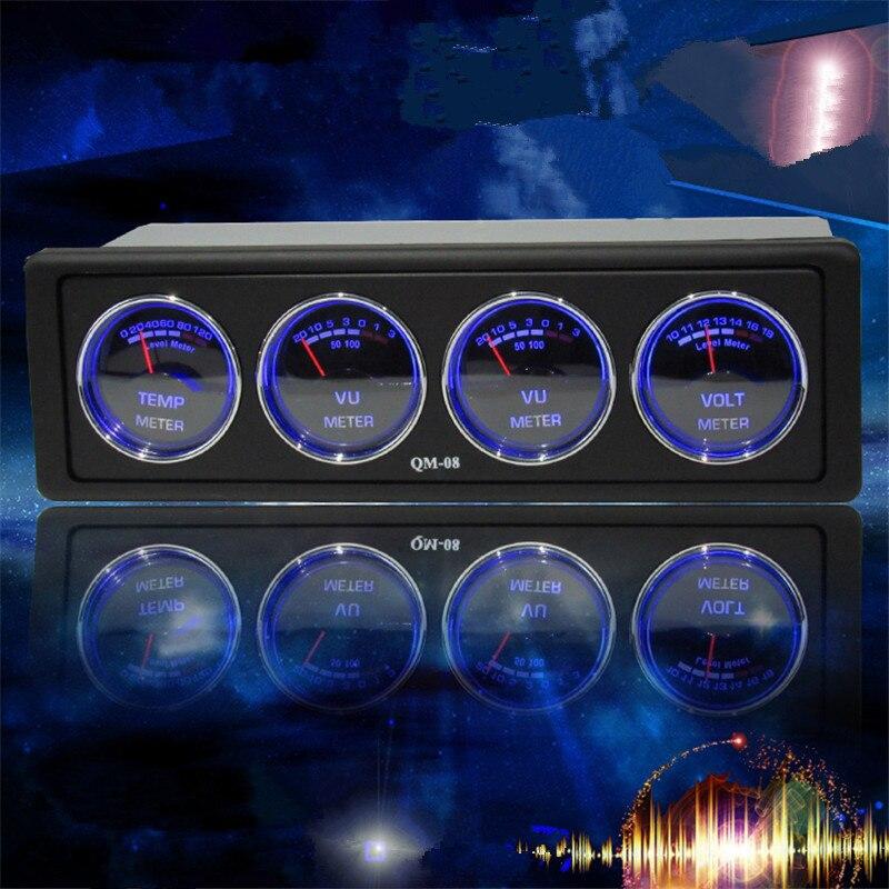 US $34 57 9% OFF|Car modification multi function car audio spectrum  analyzer Temperature and voltage audio status monitoring car spectrum  analyze-in