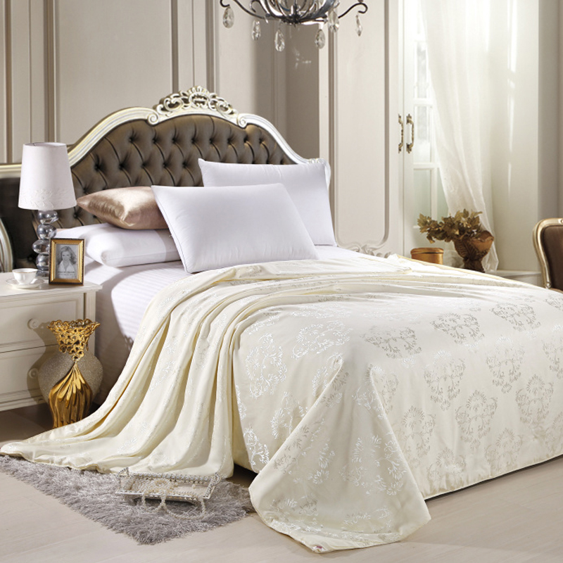Mulberry Silk Blanket 100 Silk Comforter Single Double Bed Twin Queen King Size Summer Quilt White