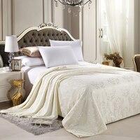 Maulbeerseide Decke 100% Seide Tröster Einzigen Doppelbett Twin Königin König Größe Sommer Quilt Weiß Rosa Gelb Soft Decken