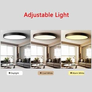Image 5 - Plafond moderne à LEDs Ultra mince imperméable allume la lampe Luminaria Plafonnier avec les principaux luminaires de couleur Dimmable Lustre Plafonnier