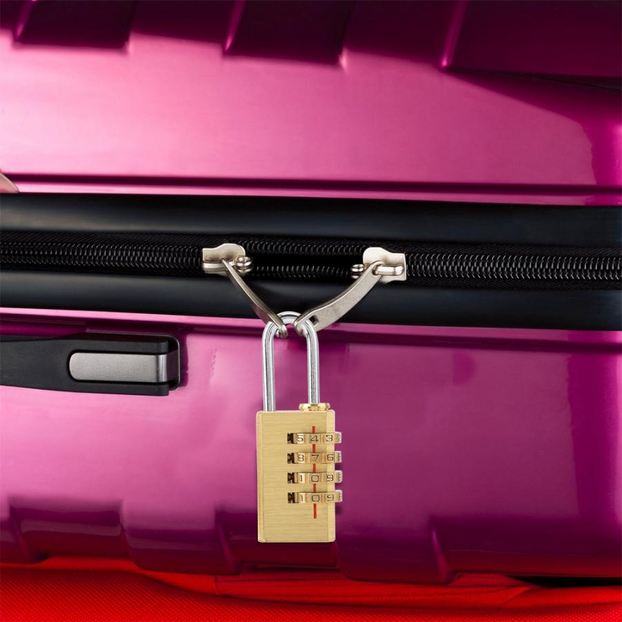 Mini 4 Digits Number Password Copper Code Lock Suitcase Luggage Padlock Resettable Digital lock