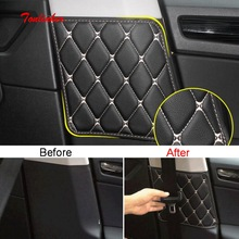 Tonlinker Interior Cover sticker For Skoda KODIAQ 2018 Car Styling 2 PCS PU Leather Seat back Anti-dirty pad stickers