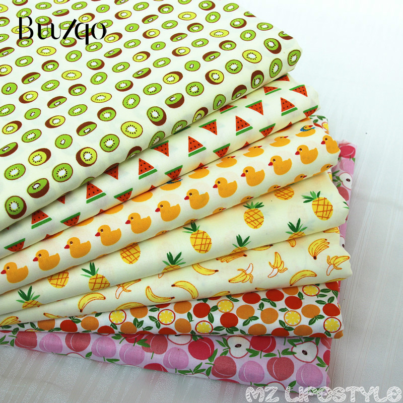 Buulqo 50cmX160cm fruit paradise cartoon pattern 100% twill cotton fabric bedding children's clothing accessories